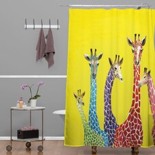 Clara Nilles Jellybean Giraffes Shower Curtain