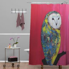 Clara Nilles Owl On Lipstick Shower Curtain