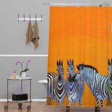 Clara Nilles Candy Stripe Zebras Shower Curtain