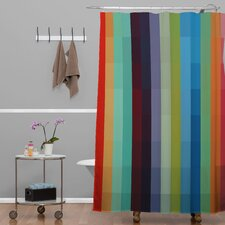 Madart Inc. City Colors Extra Long Shower Curtain
