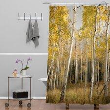 Bird Wanna Whistle Golden Aspen Extra Long Shower Curtain