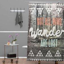 Wesley Bird Wander Extra Long Shower Curtain