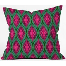 Wagner Campelo Ikat Leaves Throw Pillow