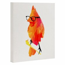 'Punk Bird' by Robert Farkas Graphic Art on Wrapped Canvas