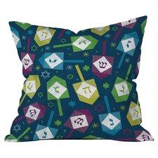 Loni Harris Dreidel Dreidel Throw Pillow