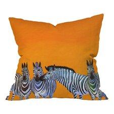Clara Nilles Candy Stripe Zebra Throw Pillow