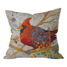 Elizabeth St Hilaire Nelson Cardinal On White Throw Pillow