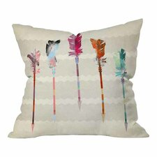 Iveta Abolina Feathered Arrows Throw Pillow