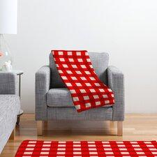 Holli Zollinger Gingham Plush Fleece Throw Blanket
