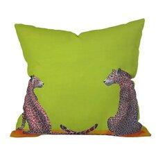 Clara Nilles Leopard Lovers Throw Pillow