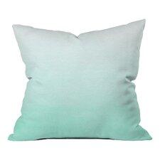 Social Proper Mint Ombre Indoor/Outdoor Throw Pillow