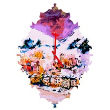 Ginette Fine Art Winter Star Wall Clock