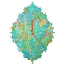 Stephanie Corfee Secret Garden Wall Clock
