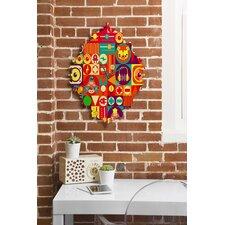 Chobopop Elecro Circus Wall Clock