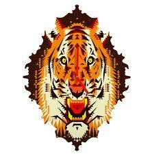 Chobopop Geometric Tiger Wall Clock