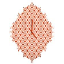 Caroline Okun Persimmon Wall Clock