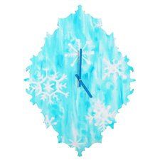 Rosie Brown Snowing Wall Clock