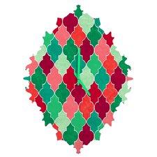 Jacqueline Maldonado Morocco Christmas Wall Clock