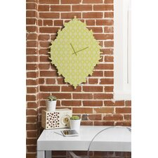 Caroline Okun Yellow Spirals Wall Clock