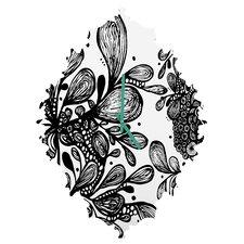 Julia Da Rocha Wild Leaves Wall Clock