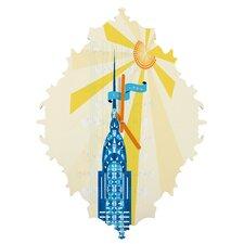 Jennifer Hill NYC Chrysler Building Wall Clock