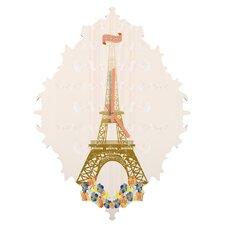 Jennifer Hill Paris Eiffel Tower Wall Clock