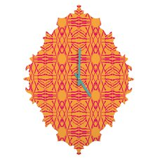 Pattern State Shotgirl Tang Wall Clock