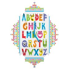 Andi Bird Alphabet Monsters Wall Clock