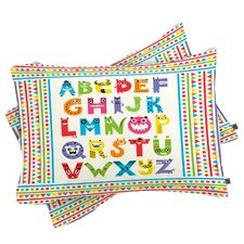 Andi Bird Alphabet Monsters Pillowcase