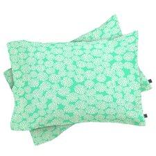 Joy Laforme Dahlias Seafoam Pillowcase