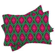 Wagner Campelo Ikat Leaves Pillowcase