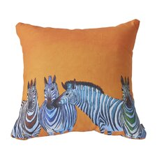 Clara Nilles Candy Stripe Zebra Throw Pillow