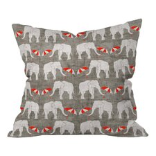 Holli Zollinger Elephant and Umbrella Throw Pillow