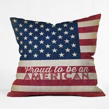 Anderson Design Group Proud To Be An American Flag Throw Pillow