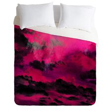 Caleb Troy Raspberry Storm Clouds Lightweight Duvet Cover
