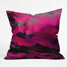 Caleb Troy Raspberry Storm Clouds Throw Pillow