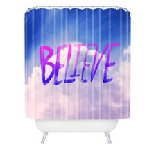 Leah Flores Believe x Clouds Polyester Shower Curtain