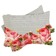 Allyson Johnson Bold Floral and Stripes Pillowcase (Set of 2)