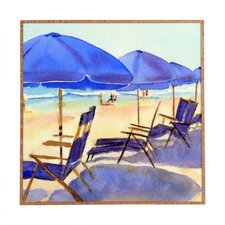 Beach Chairs by Laura Trevey Framed Painting Print