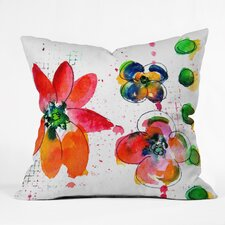 Summer in Watercolor by Laura Trevey Indoor/Outdoor Throw Pillow