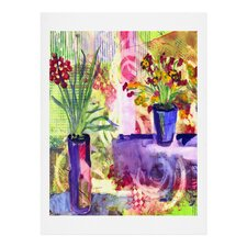 Purple and Lime by Laura Trevey Painting Print