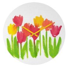Bright Tulips by Laura Trevey Clock