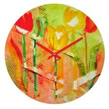Citrus Tulips Clock