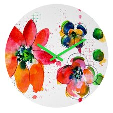 Summer In Watercolor By Laura Trevey Clock