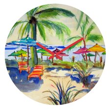 Caribbean Time By Laura Trevey Clock