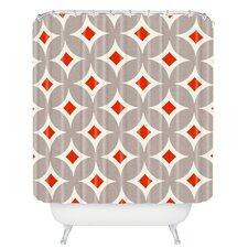 Holli Zollinger Vermillion Diamond Shower Curtain