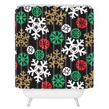 Zoe Wodarz Cozy Cabin Snowflakes Shower Curtain