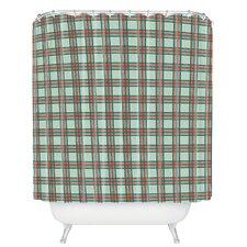 Holli Zollinger Box Plaid Shower Curtain