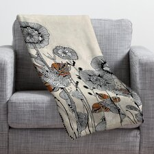 Iveta Abolina Floral 3 Throw Blanket