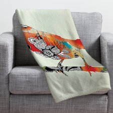 Iveta Abolina Little Bird Throw Blanket